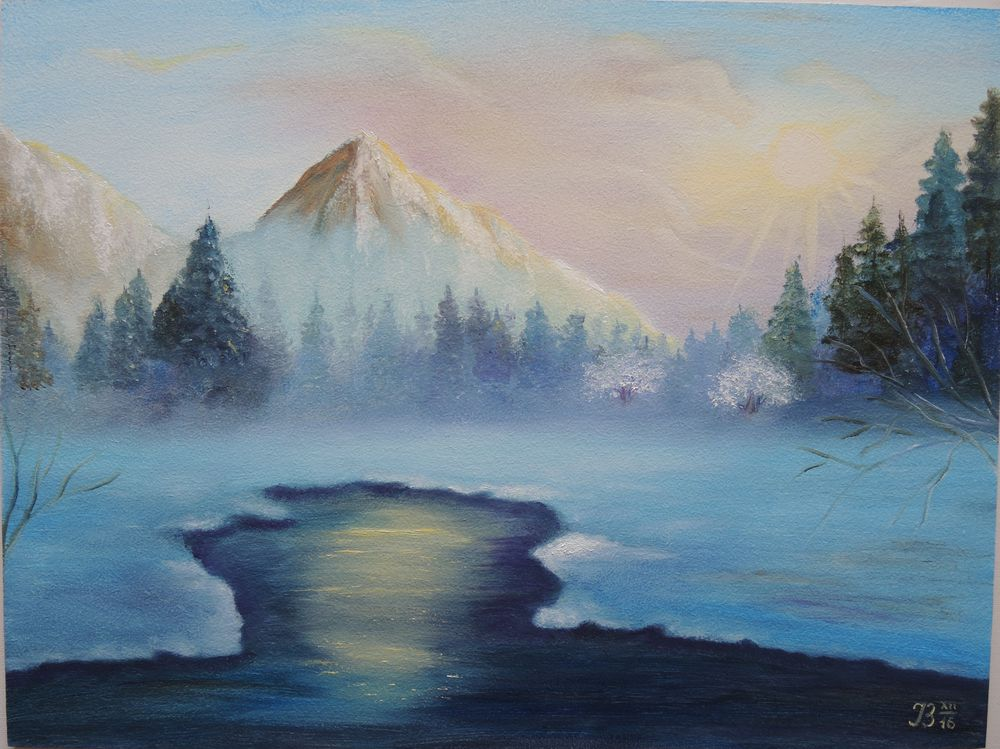 гора, картина, картина маслом пейзаж, символы, ирина белозерова
