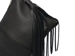 Черная сумочка — классический вариант на любой случай жизни. Ярмарка Мастеров - ручная работа, handmade.