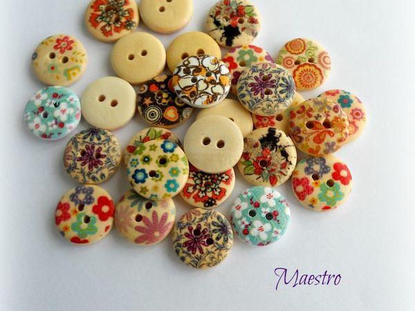 В распродаже круглые деревянные пуговицы   Ярмарка Мастеров - ручная работа, handmade