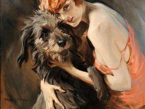 Дама с собачкой: подборка из 70 живописных полотен. Ярмарка Мастеров - ручная работа, handmade.