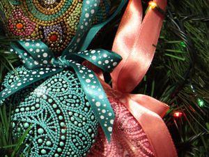 Точечная роспись Point-to-point - Новогодняя игрушка | Ярмарка Мастеров - ручная работа, handmade