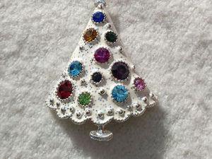 Винтажные броши «Рождественская елочка». | Ярмарка Мастеров - ручная работа, handmade