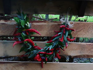 Создаем осеннюю гирлянду из красного перца и пряных трав. Ярмарка Мастеров - ручная работа, handmade.