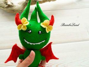 Игрушка из фетра маленький демонёнок. Ярмарка Мастеров - ручная работа, handmade.