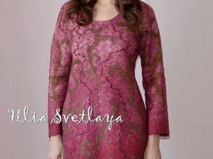 Фотообзор платья с рукавами Античная Роза. Ярмарка Мастеров - ручная работа, handmade.