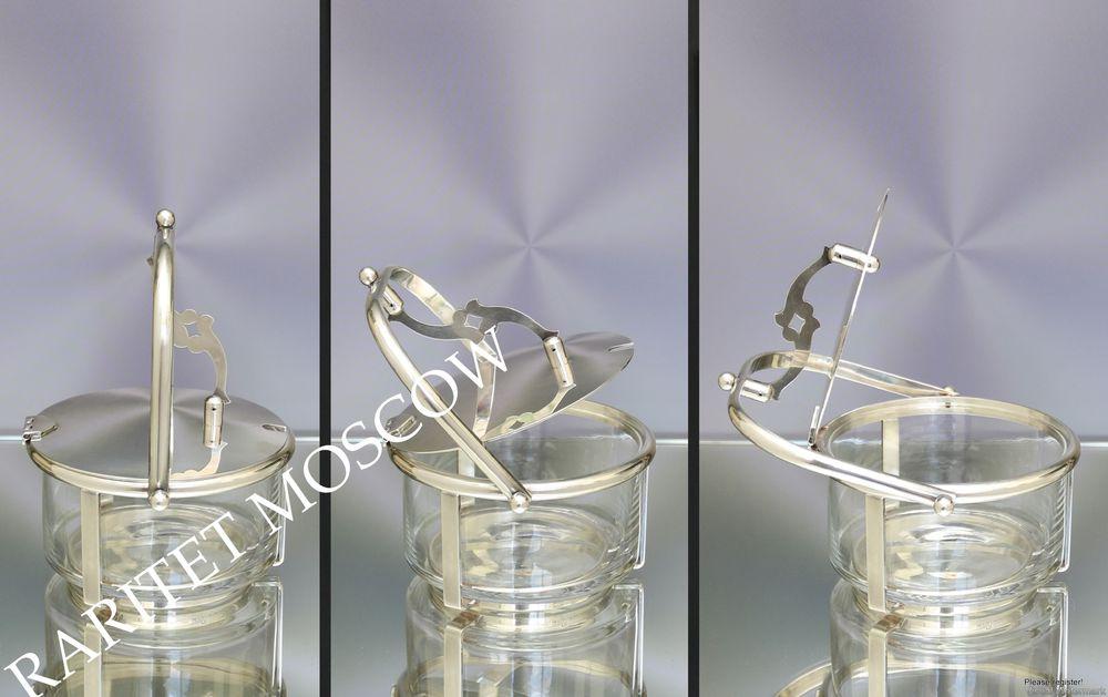 Сахарница конфетница ложка серебрение клеймо 23, фото № 5