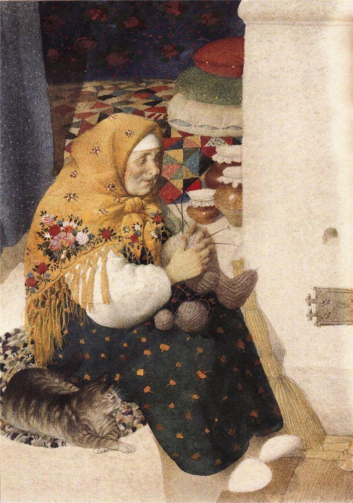 Когда есть чем заняться — стареть некогда: душевные картины о бабушках-рукодельницах, фото № 1