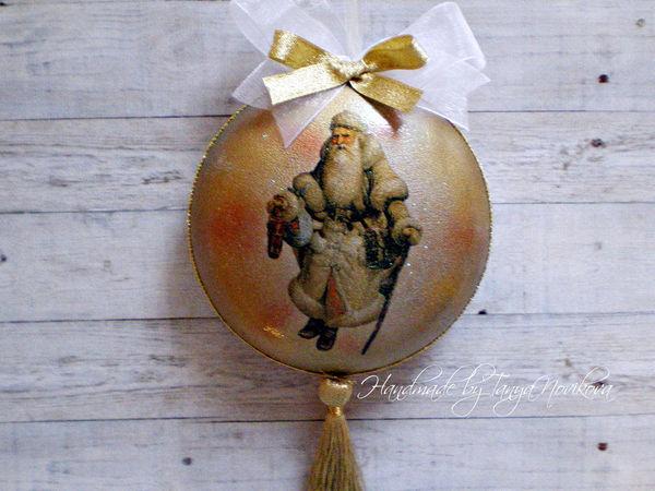 3 Новогодних шара | Ярмарка Мастеров - ручная работа, handmade