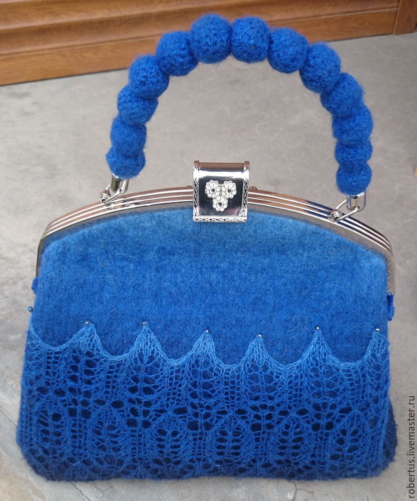 Мастер-класс: как сделать сумку с двойным фермуаром, фото № 26