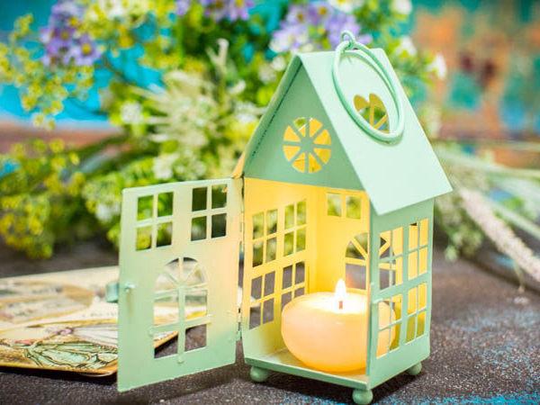 Подарок апреля - подсвечник-фонарик Домик! | Ярмарка Мастеров - ручная работа, handmade