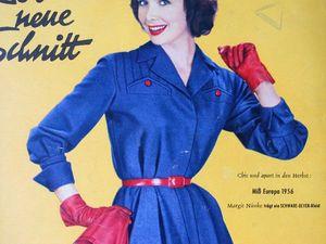 Schwabe der neue Schnitt — журнал мод 8/1956. Ярмарка Мастеров - ручная работа, handmade.