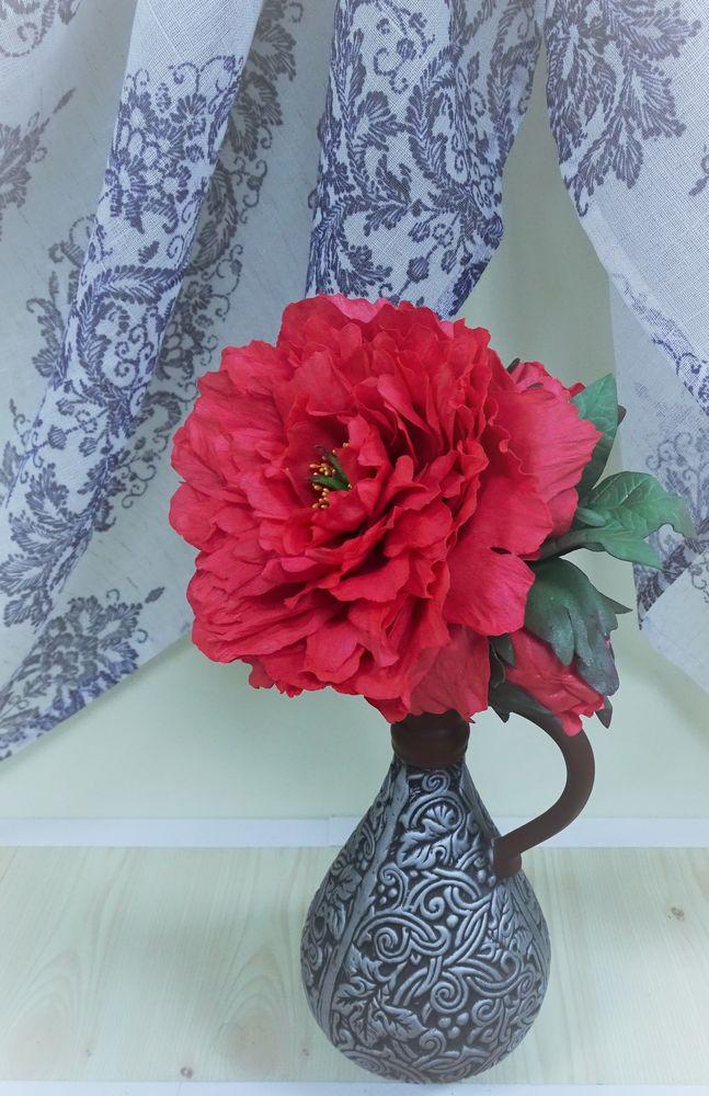 любимая работа, пион, фоамиран, цветоделие