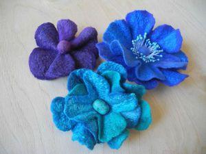 Создаем симпатичные брошки-цветы из шерсти. Ярмарка Мастеров - ручная работа, handmade.