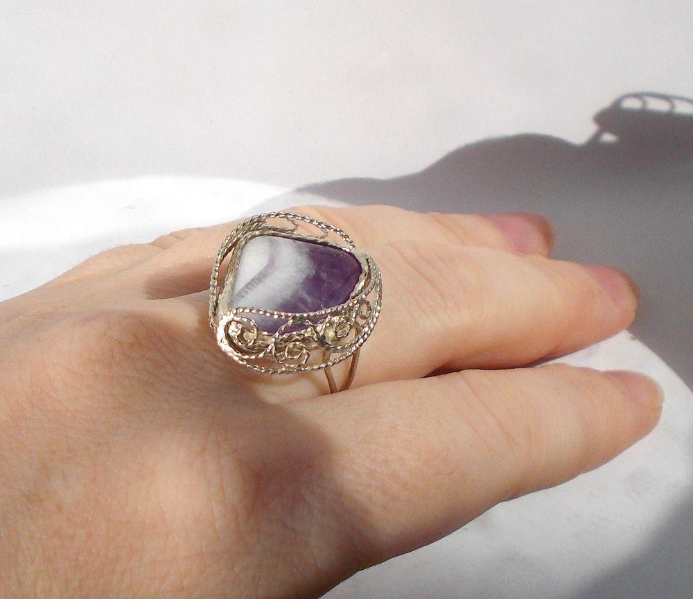 фигурное кольцо, филигрань купить