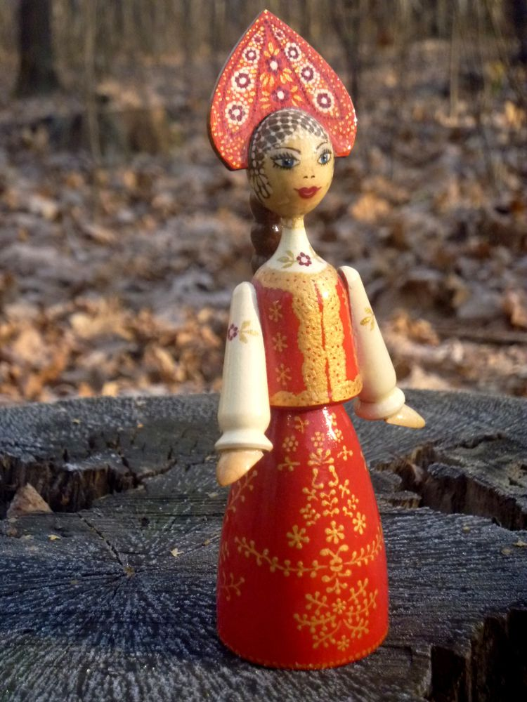 роспись по дереву, копирайтинг, деревянная кукла, фольклор