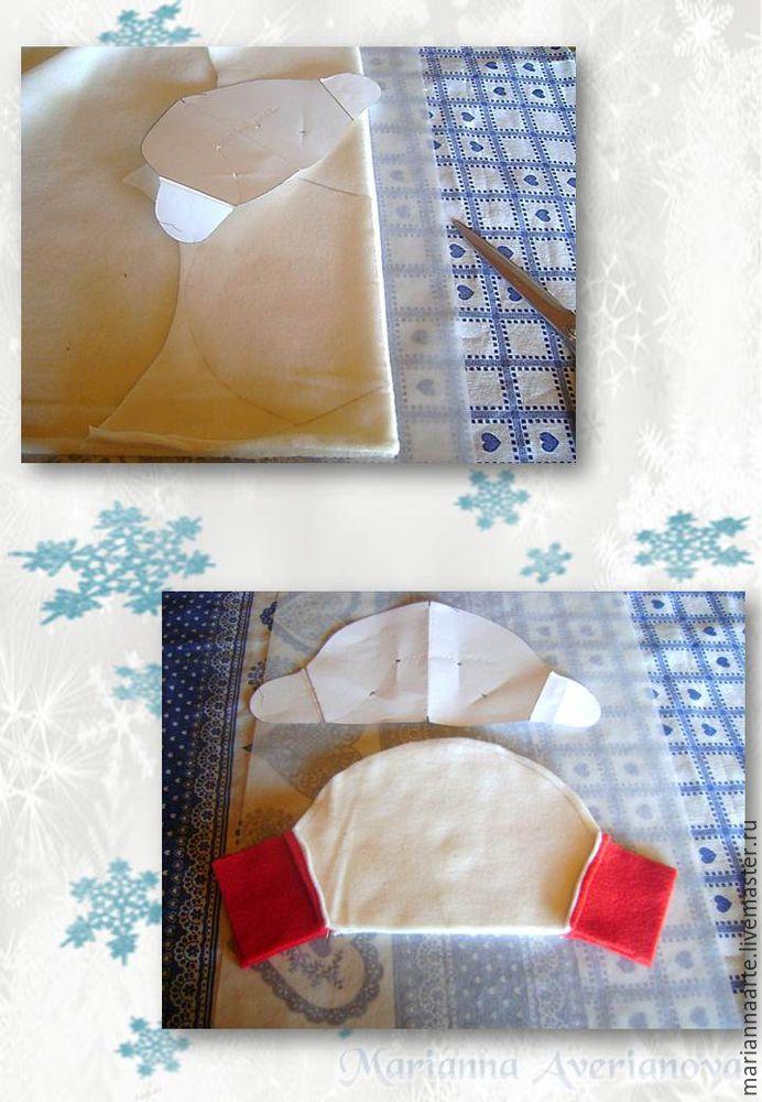 Мастер-класс по созданию забавной новогодней игрушки «Снеговичок-тюфячок», фото № 5