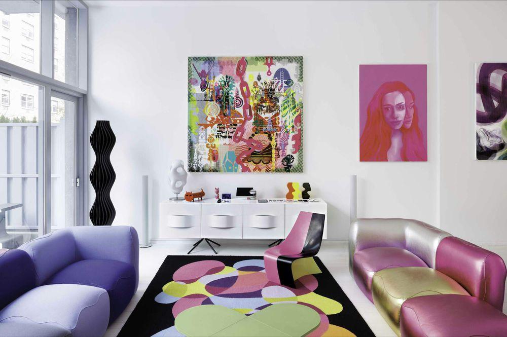 Дизайнер интерьеров Karim Rashid и его необычные работы, фото № 9