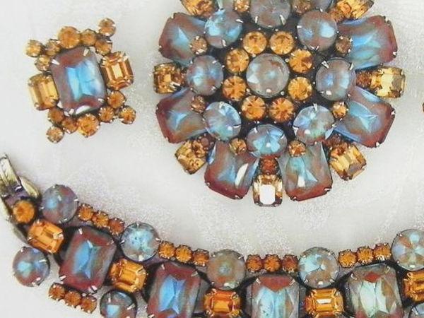 Антикварные украшения с сапфиритами | Ярмарка Мастеров - ручная работа, handmade