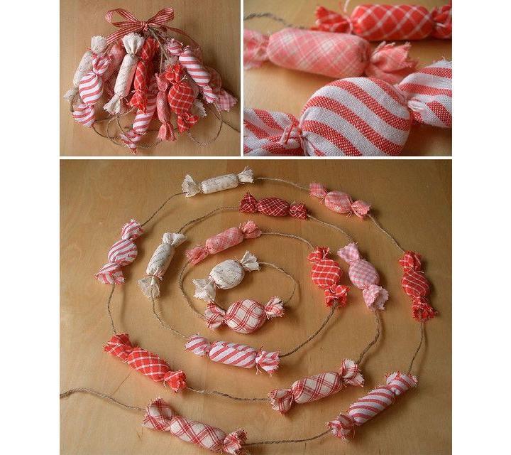 Конфеты из ткани своими руками