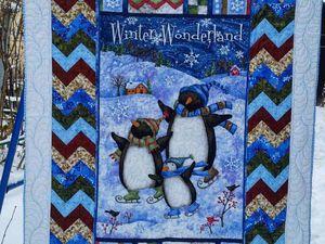 Как сшить лоскутное одеяло с пингвинами. Ярмарка Мастеров - ручная работа, handmade.