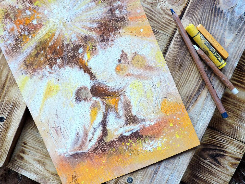 рисуем пастелью, как рисовать пастелью, сухая пастель