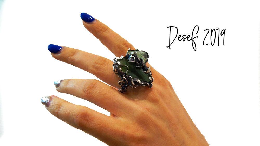 кольцо ручной работы, лилия