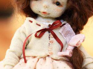 Моя первая шарнирная куколка из шерсти:) | Ярмарка Мастеров - ручная работа, handmade