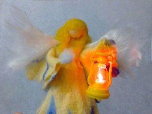Создаем Зимнего Ангела в смешанной технике мокрого и сухого валяни. Ярмарка Мастеров - ручная работа, handmade.