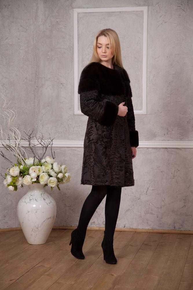 пальто из каракульчи, шуба на заказ