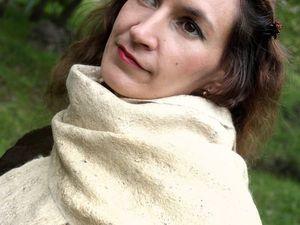 Валяем шарф из шерсти и декоративных волокон. Июль. Владивосток. Е.Фадеева   Ярмарка Мастеров - ручная работа, handmade