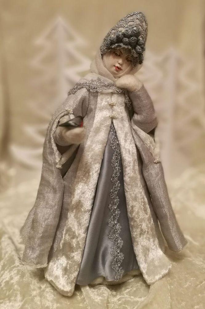 снегурочка, авторская кукла, авторская работа, паперклей, подарок на новый год, подарок девушке, подарок женщине, эксклюзив, кружево