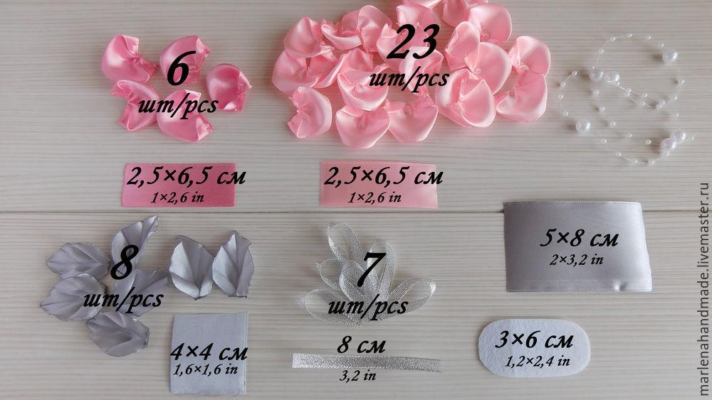 роза канзаши, роза из лент, заколка для волос, заколка с цветами, текстильные цветы