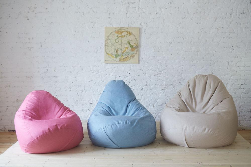 кресло, бескаркасная мебель, дизайн интерьера