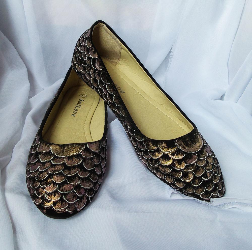 балетки, обувь с рисунком