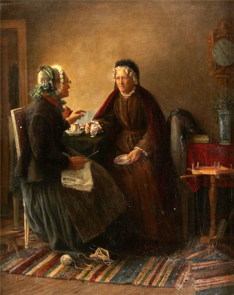 Когда есть чем заняться — стареть некогда: душевные картины о бабушках-рукодельницах, фото № 61