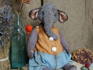 Тедди слон Афоня. Ярмарка Мастеров - ручная работа, handmade.