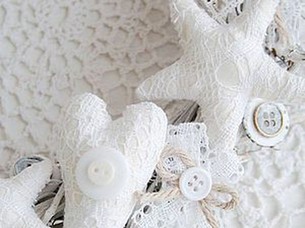 How to Make a Shabby Interior Wreath with Stars | Livemaster - handmade