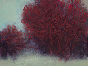 «Не как все»: деревья цвета бордо. George H. Shipperley. Ярмарка Мастеров - ручная работа, handmade.