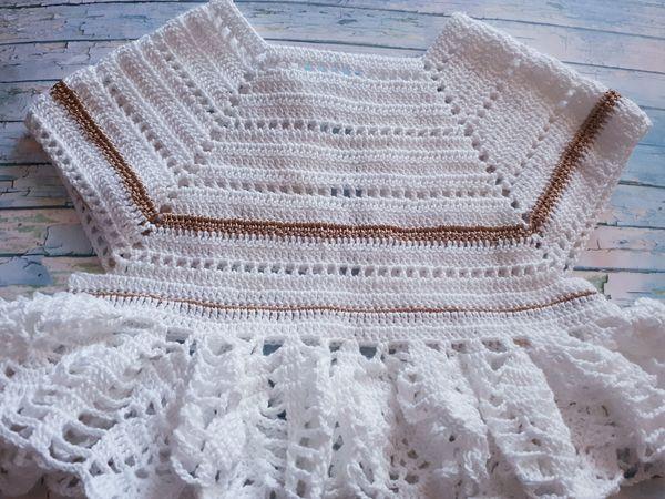 Крестильный наряд крючком за неделю | Ярмарка Мастеров - ручная работа, handmade