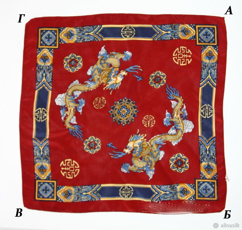 брошь из платка, как носить платок