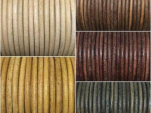 Новые кожаные шнуры 3 мм (14 цветов) уже в магазине!   Ярмарка Мастеров - ручная работа, handmade