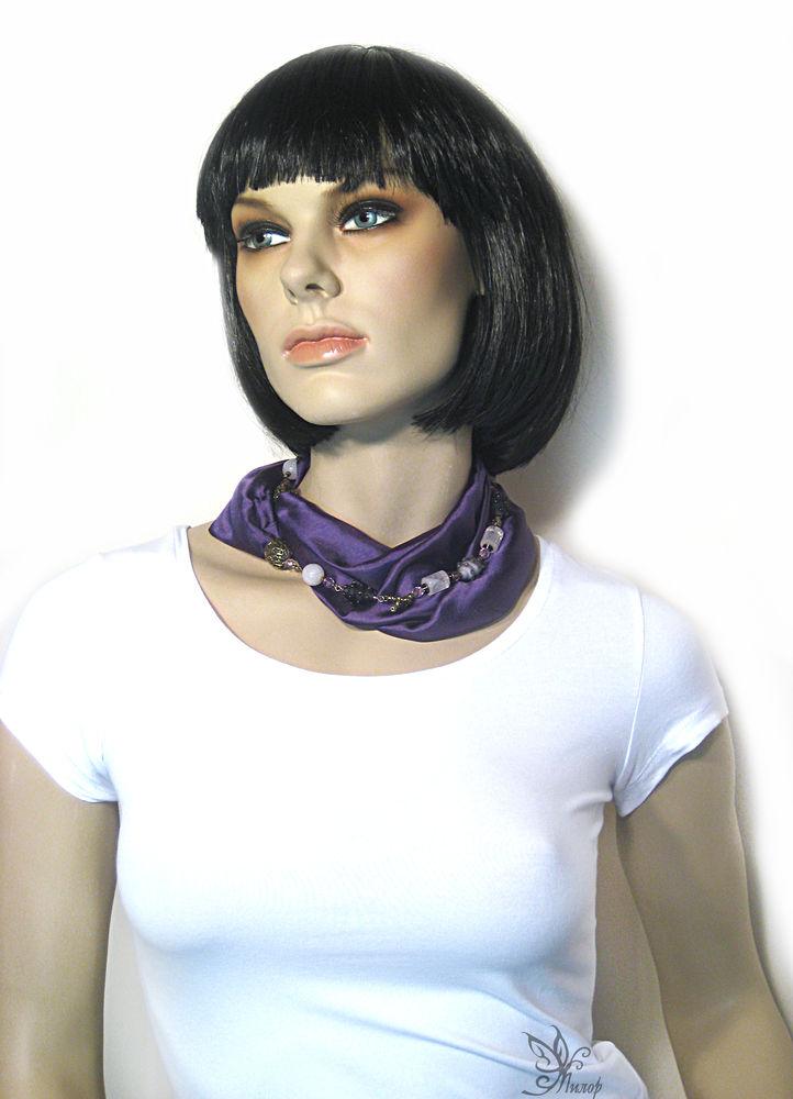 шарф колье, платок с браслетом