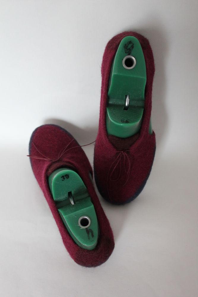 войлочные туфли, войлок ручной работы