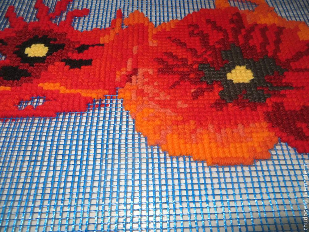 сетка для вышивки, вышивка подушек, вышивка ручная