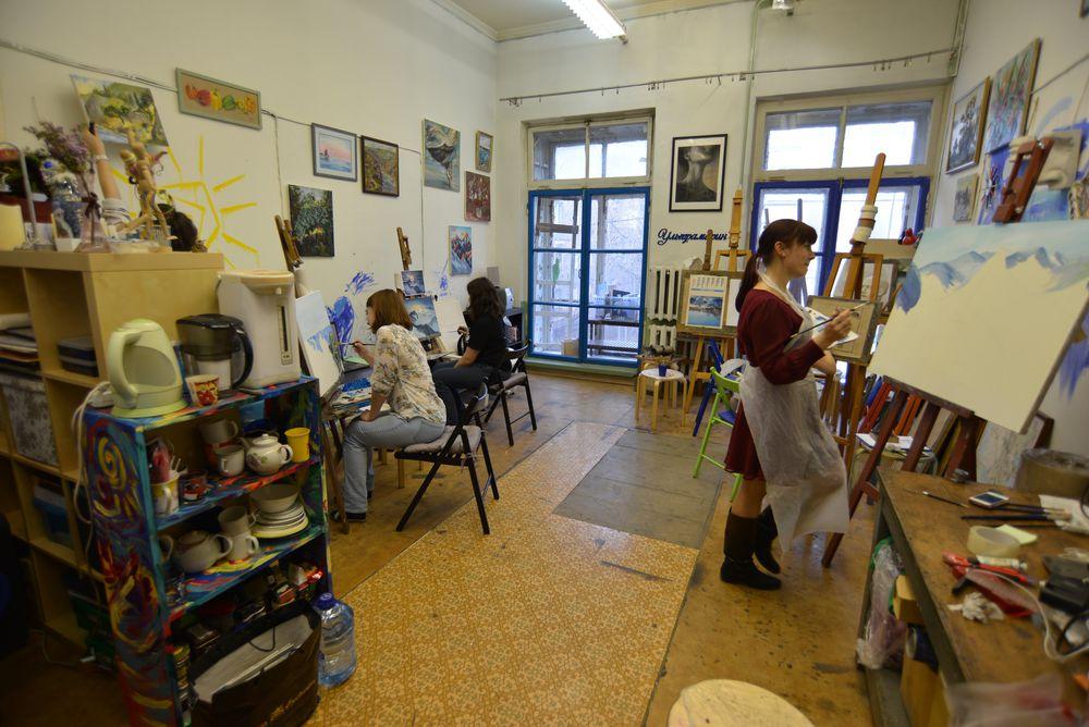 рисовать, мастерская, живопись