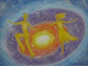 Картина Сотворение Вселенной Любви. Близнецовые пламена.. Ярмарка Мастеров - ручная работа, handmade.