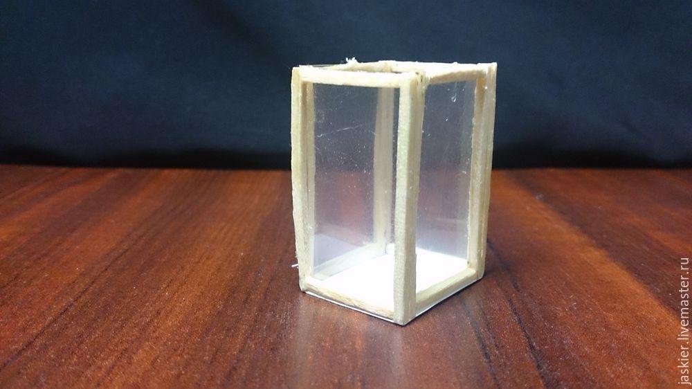 Мастерим для кукольного домика светящийся фонарь в миниатюре, фото № 1