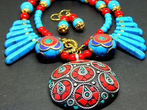 """Восточный комплект """"Сагарматха"""". Ярмарка Мастеров - ручная работа, handmade."""