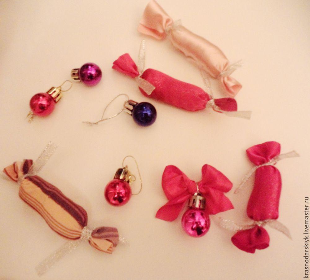 новогодний венок, новогодняя конфетка, праздник рукоделия