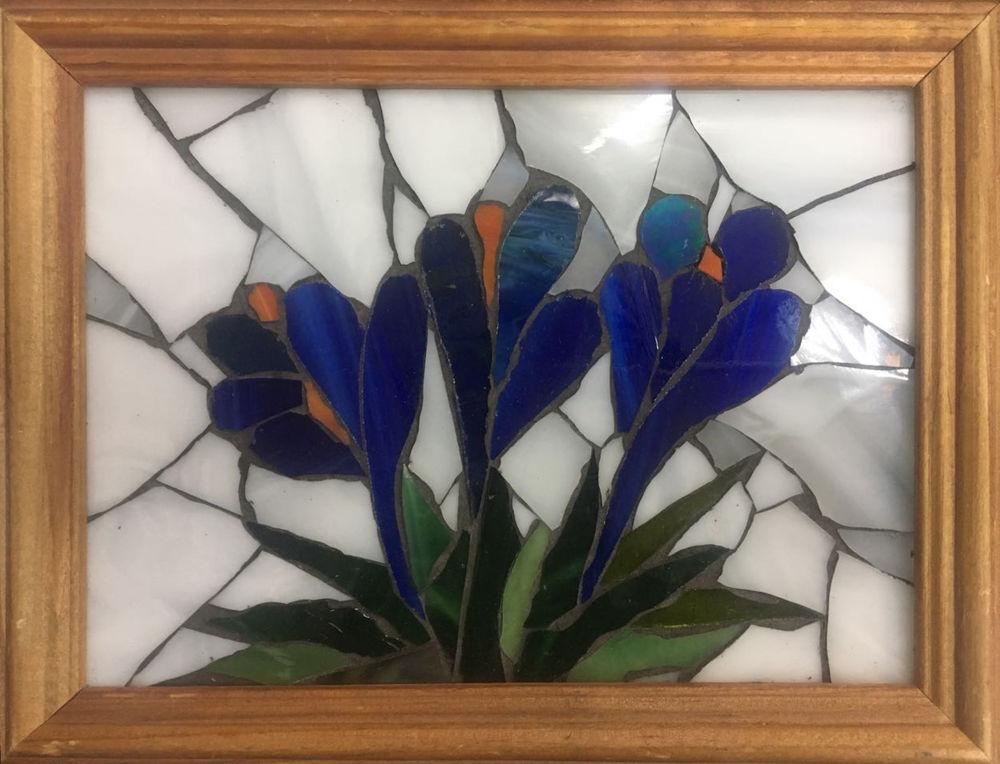 акция на мастер-класс, стеклянная мозаика, мастер-класс к 8 марта, провести выходные, подарок на 8 марта, подарок своими руками, мастер-класс в москве, мк в москве, мозаичная картина, цветы на 8 марта, крокусы, весенние цветы